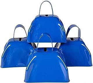 Rhode Island Novelty Blue Metal Cowbell - 12 Pack
