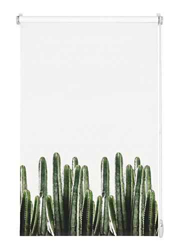 Gardinia Tenda a Rullo con Ricamo EASYFIX 45 x 150, Polyester, Bianco, 45 x 150 cm