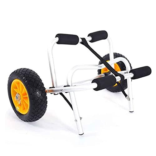 LVLUOKJ Carretilla Plegable de Transporte de Kayak Aluminio Carrito Canoa