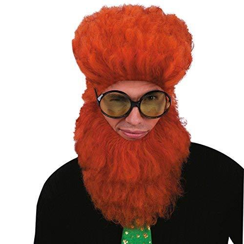Fighter, Wig & Beard Terrorist Carnival Wig orange
