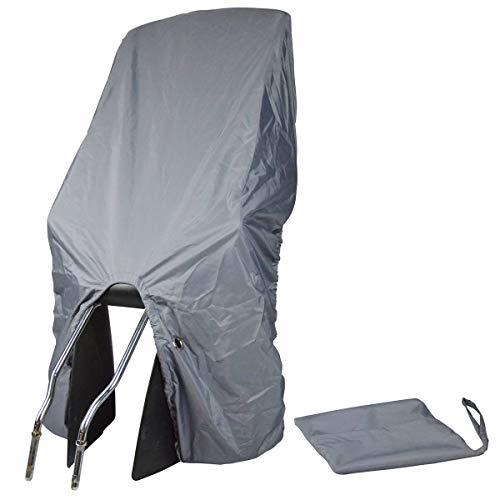 TROCKOLINO sicuro Basic in schwarz - Regenschutz für Fahrrad-Kindersitz mit Öse, Farbe:grau