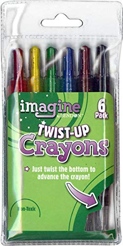 Imagine 354889 Twist-Up Crayons, Assorted Colors (6 Pack)