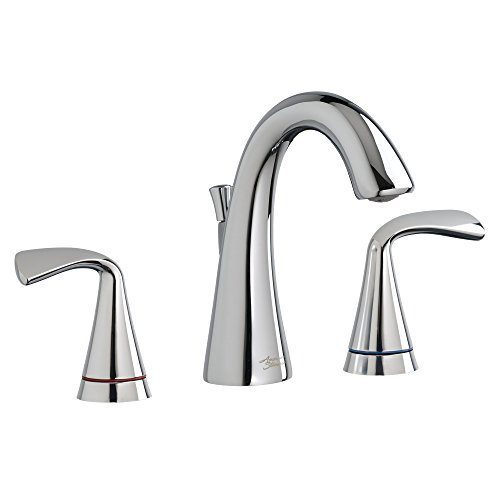 """American Standard 7186811.002 Fluent 8"""" Widespread Bathroom Faucet with Speed Connect Drain and Color Indicator, Polished Chrome"""