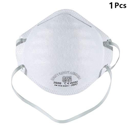 N/X 1 Pezzi di Maschere Antipolvere Non tessute con Maschere per valvole, Maschere di Sicurezza per Maschere da Bicicletta