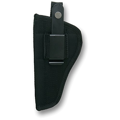Bulldog Cases Belt and Clip Ambi Holster FSN-12 (Fits Most Revolvers with 3-4-Inch Barrels, S & W K,L,N & Taurus Judge), Black