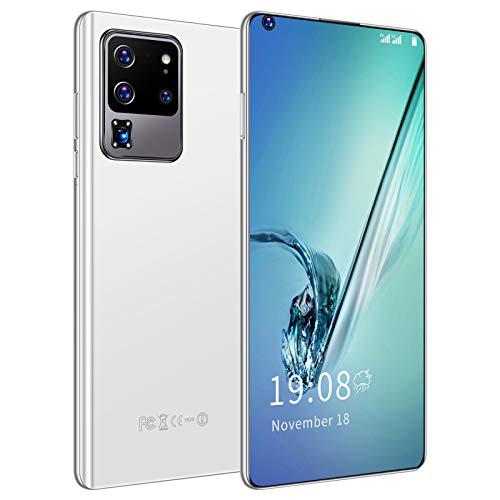 Teléfono, teléfono de desbloqueo de huellas dactilares de expansión 128GB, teléfono inteligente con tarjeta SIM 3G, para regalo Android(white)