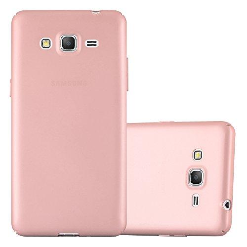 Cadorabo Funda para Samsung Galaxy Grand Prime en Metal Oro Rosa - Cubierta Protección de Plástico Duro Super Delgada e Inflexible con Antichoque - Case Cover Carcasa Protectora Ligera