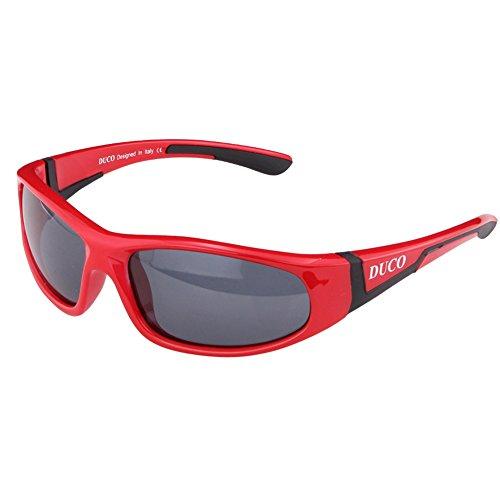 DUCO Kinder Sonnenbrille Polarisierte Sportbrille für Jungen und Mädchen Für Alter 3-10