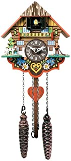 River City Clocks Musical Multi-Colored Quartz Cuckoo Clock - 8 Inches Tall - Model # M8-08PQ