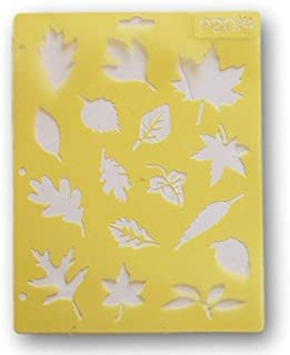 Darice Painting Stencil - Leaves - 8.5 x 11 inches