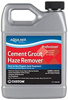 Aqua Mix Cement Grout Haze Remover - 32 oz Quart - Removes Cured Grout and Mortar Residue - Efflorescence, Rust, Hard Water Stain, Lime Deposit Cleaner - For Tile, Granite, and Natural Stone