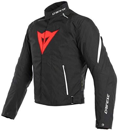 Dainese Laguna Seca 3 D-Dry - Chaqueta para moto, color negro, rojo y blanco, talla 46