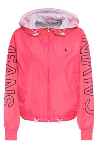 Calvin Klein Jeans Veste coupe-vent avec logo contrasté - Rose - L