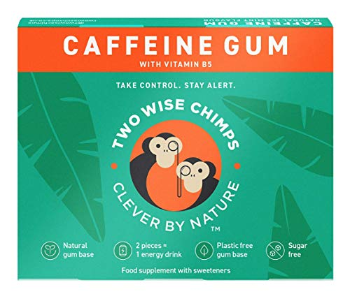 Two Wise Chimps Natural Caffeine Chewing Gum 9-Pieces