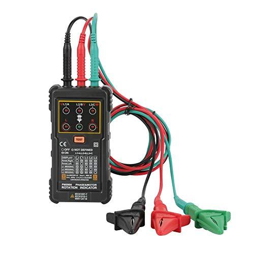 FILFEEL Probador de indicador de rotación de Motor trifásico portátil de Mano Sistema trifásico Prueba de Motor Multimetro