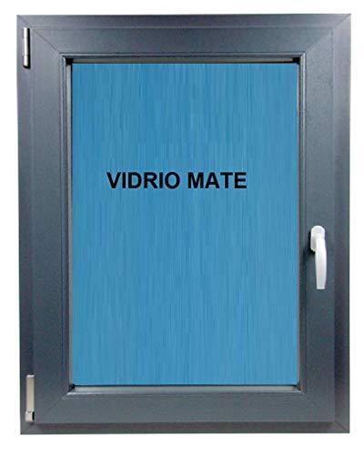 ECO-BLU (V29M) Ventana Baño Pvc Gris Antracita. Oscilobatiente Izqierda Vidrio Climalit Mate, 500x600 mm