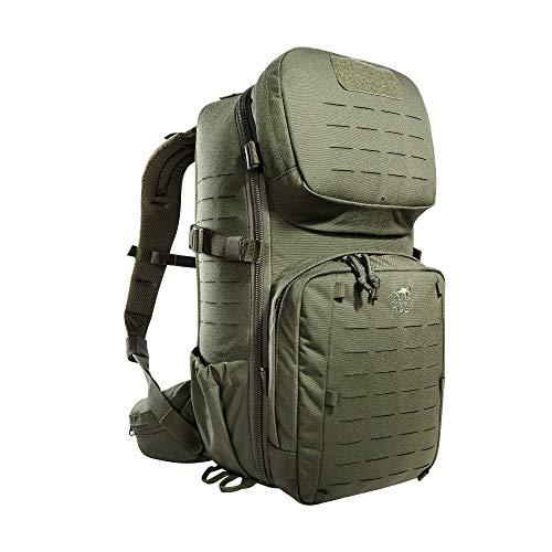 Tasmanian Tiger TT Modular Combat Pack 22L, Militär Tages-Rucksack, perfekt organisierter Daypack, Molle-Kompatibel für Uni, Arbeit, Schule, Outdoor, Trekking und Wandern, Oliv