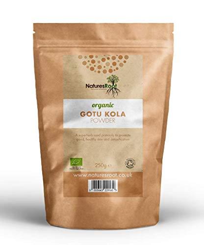 Nature's Root Bio Gotu Kola Pulver 60g - Ayurveda-Kräuter der Langlebigkeit   Haut- und Haarpräparat   Vegetarisch   Vegan   Wiederverschließbarer Beutel