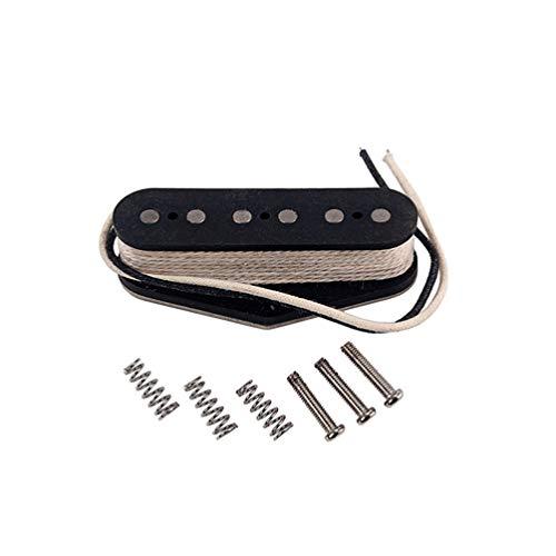 Milisten Pastilla de Guitarra Single Coil Magnet Humbucker Negro para Tl Partes de Guitarra Baja Gma18 (Negro)