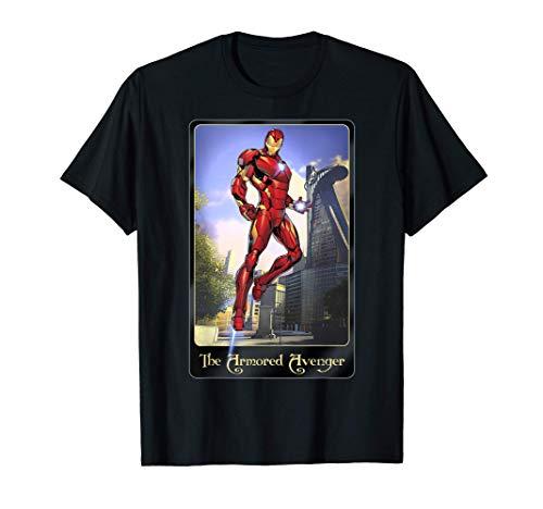 Marvel Iron Man Card Art The Armored Avenger Maglietta