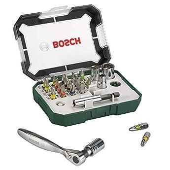 Foto di Bosch 2607017322 Rainbow Evo Set Avvitamento con Cricchetto piccolo, 26 Pezzi