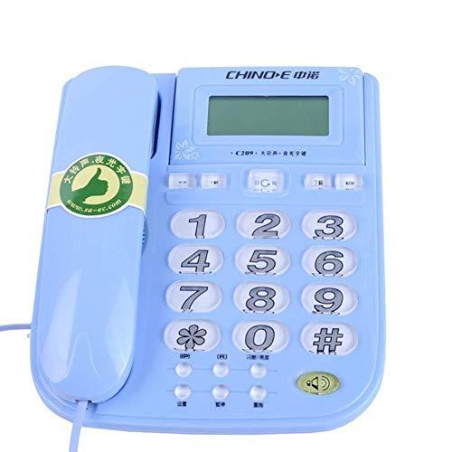 LXYZ Teléfono Fijo Teléfono/teléfono Fijo residencial Ancianos Llamador Fijo Pared/Escritorio Soporte de Mesa Incluido 220 * 180 * 91 mm Teléfono Fijo Fijo