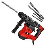SCHMIDT security tools SDS-Plus Bohrhammer RH-1500 Meißelhammer 1500Watt 6,0J Abbruchhammer | Meißeln Schlagbohren Bohren mit Antivibrationsgriff Koffer Zubehör