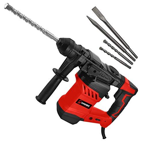 SCHMIDT security tools SDS-Plus Bohrhammer RH-1500 Meißelhammer 1500Watt 6,0J Abbruchhammer | Meißeln Schlagbohren Bohren Antivibrationsgriff Koffer mit Zubehör