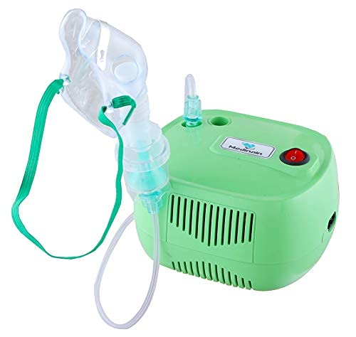 Medinain Compressor Nebulizer With Portable And Light Weight Machine Kit For Adult and Child (Green)