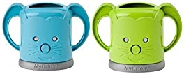 MyDrinky - The Adjustable Juice Box Holder 2 Pack (Lime/Aqua)
