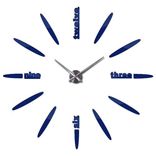 XMBT Mostrar Relojes Decorativos de Cuarzo no,Dormitorio silencioso Sala de Estar Decoración Relojes de Cuarzo Pino Despertador Estilo Vintage Reloj de Pared Relojes Digitales de cabecera