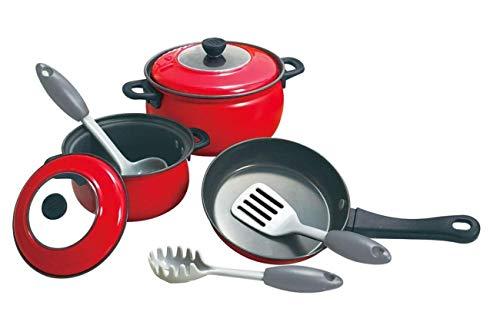Kochtopf und Pfanne Set für Spielküche aus Metall mit Zubehör