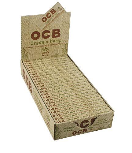 OCB Organic Hemp Rolling Papers Single Wide Size - Full Box (24 Books)