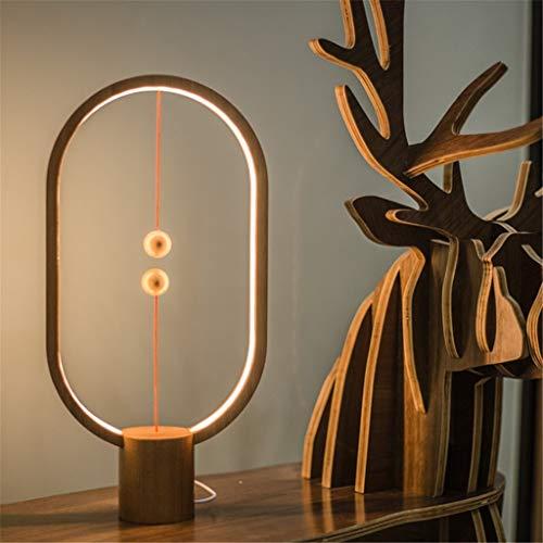 PI Magnetbalance-Lampe, intelligenter halb leerer Schalter führte das Schreibtisch-Lampen-Schlafzimmer, das hölzernes Nachtlicht liest, D,B
