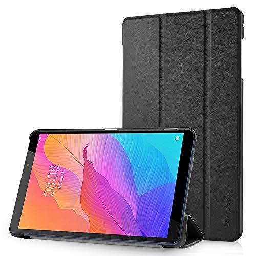 Simpeak Funda Compatible para Huawei MediaPad T8 8.0 2020, Ultra Delgado Silm Stand Función Smart Fundas Duras Cover Case 8.0 Pulgadas Dispositivo, Negro