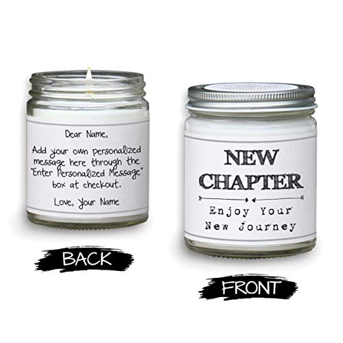 Personalized Coworker Leaving Candle - Farewell Gift for Coworker - 8oz Soy Blend Candle