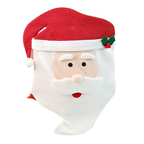 Kentop Papá Noel Navidad Cocina Comedor Silla Cubiertas Decoración de Navidad,70 * 45cm