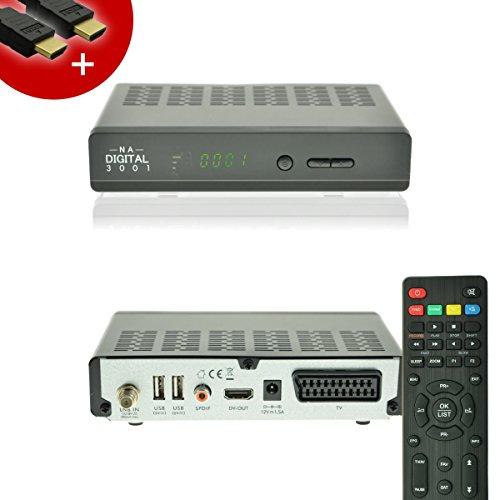 NA-Digital 3001 HD HDTV digital Satelliten-Receiver 230v/12v | hd Receiver für satelliten | HDMI SCART USB 2.0 Full HD 1080p | vorprogrammiert für Astra Hotbird Türksat