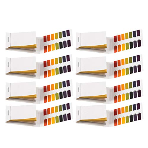 Balacoo Teststreifen-Set, 8 Stück, universell, für den Test des Körpers, säurehaltig, pH-Wert Alkali, zur Pflege der Haut, für Aquarien, Trinkwasser, Kosmetik, 80 Stück