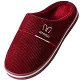 MR.XIANG Zapatillas Casa Niña/Zapatillas Hombre Mujer Invierno Cálido Zapatos Memory Foam Casa Antideslizante Pantuflas Navidad/Regalo De Cumpleaños Red EU 37.5/38