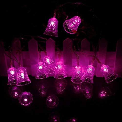 Ghirlanda Decorativa A Campana Leggera A Forma Di Campana Per Luci Di Natale Decorazione Di Festa Per Feste All'Aperto 2M Rosa Rosa Antico