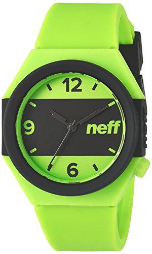 Neff NF0225AMRN Reloj japonés de cuarzo azul, unisex pantalla analógica con franja. - Multi - Talla única