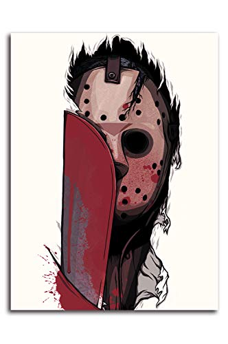 Stampa su tela di Ariago del venerdì il 13° poster di Halloween horror Movies Jason, 45,7 x 61 cm