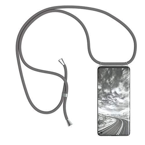 EAZY CASE Handykette kompatibel mit Samsung Galaxy S10 Handyhülle mit Umhängeband, Handykordel mit Schutzhülle, Silikonhülle, Hülle mit Band, Stylische Kette mit Hülle für Smartphone, Anthrazit