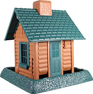 North States Village Collection Around Town-Birdfeeder-Log Cabin
