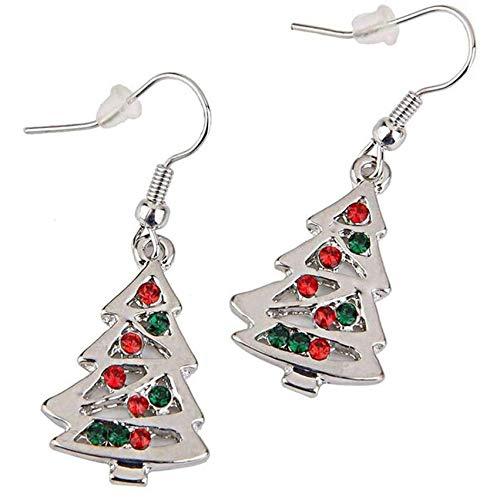 LPOQW Women Drop Earrings Christmas Tree Pendant Earrings Plating Dangle Jewelry Earrings Xmas Elegant Earring Gifts