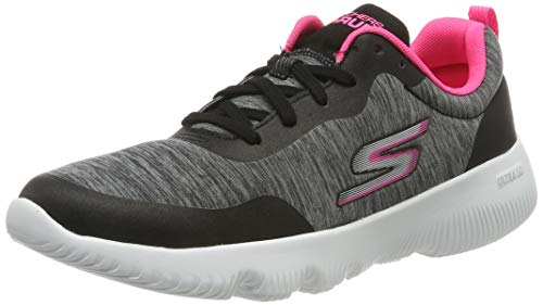 Skechers Women's Go Run Focus Trainers, Black (Black Textile/Hot Pink Trim Bkhp), 7 UK (40 EU)