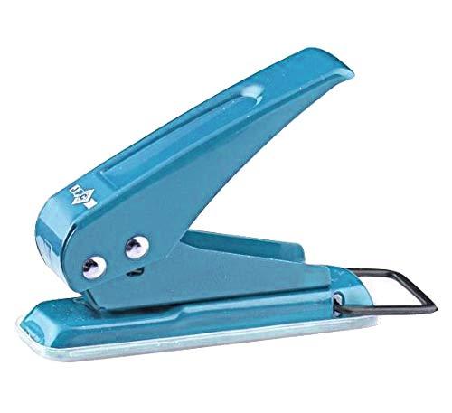 Einfachlocher aus Metall Ein-Loch Locher kräftiger Locher für bis zu 20 Blätter Papier, Blau