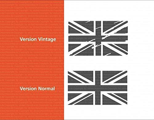 Flagge Union Jack Aufkleber / 10, 15 oder 20 cm, Great Britain Sticker für Motorrad, Camper Bus Offroad 4x4 Wohnmobil Boot oder Geländewagen