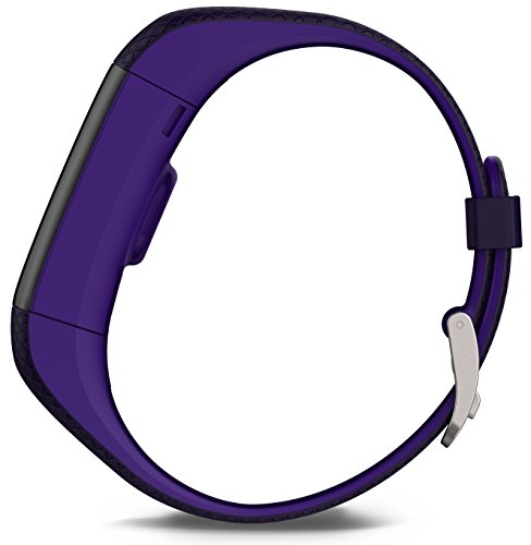 Garmin Vívosmart HR+ - Bracelet de Fitness avec GPS et Cardio Poignet - Taille Regular - Violet